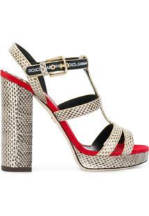 Dolce & Gabbana Sandália 'Keira' - Neutro