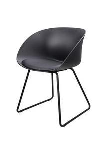 Cadeira Dandy Preta Com Base Preta - 58165 Preto
