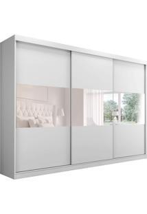Guarda-Roupa Casal Com Espelho Grécia 3 Pt 4 Gv Branco