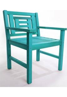 Cadeira Echoes Azul Mão E Formão