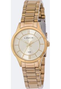 Kit Relógio Feminino Lince Lrgh072L-Ku33C1Kx Analógico 5Atm + Conjunto Semijóia