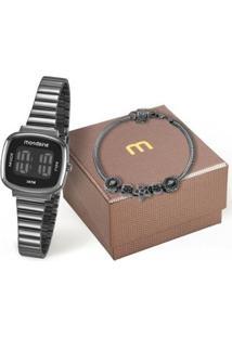 Kit Relógio Mondaine Feminino - Feminino-Preto