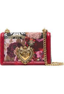 Dolce & Gabbana Bolsa Devotion Com Padronagem Floral - Vermelho