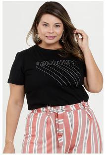Blusa Feminina Estampa Frontal Plus Size