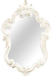 Espelho Coloni Mart Branco/Dourado 53X82Cm