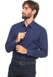 Camisa Aramis Slim Xadrez Azul-Marinho