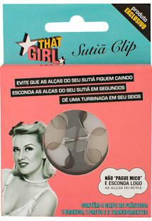 Sutiã Clip That Girl Com 4 Clips (1 Branco, 1 Preto E 2 Transparentes)