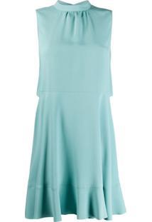 Redvalentino Vestido Sem Mangas Com Detalhe De Laço - Azul