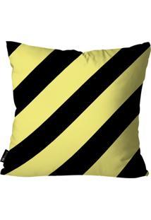 Capa Para Almofada Mdecor Geométrica Amarelo