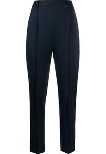 Styland High Rise Slim Fit Trousers - Azul