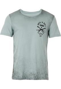 Camiseta Jateada Masculina Km - Verde