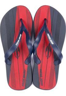 Chinelo Grendene Mormaii Tropical Grafics Ad - Masculino-Azul+Vermelho