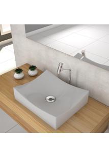 Cuba De Apoio Para Banheiro Compace Milla M44W Retangular Cinza