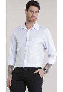 Camisa Comfort Listrada Branca