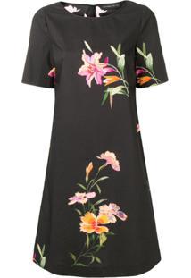 Etro Floral Print Shift Dress - Preto