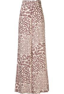 Alexis Neassa Floral-Print Trousers - Vermelho