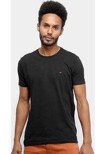 Camiseta Ellus Cotton Fine E Asa Classic Masculina - Masculino-Preto