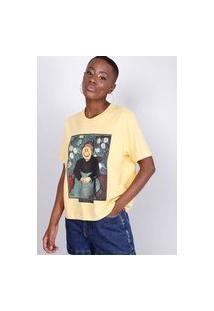 Blusa T-Shirt Smile Amarela Gang Feminina