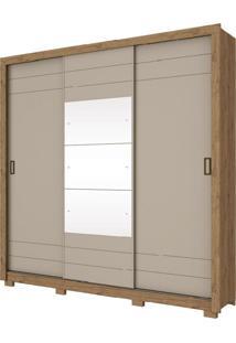 Roupeiro Casal 3 Portas Com Espelho 3 Gavetas Henn