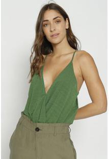 Body Texturizado Com Tag - Verde - Colccicolcci
