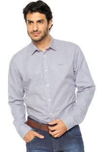Camisa Colcci Xadrez Azul/Laranja