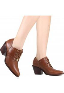 Bota Ankle Boot Jorge Bischoff Couro
