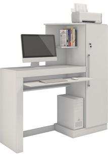 Escrivaninha Office Aroeira Jcm Movelaria Cor:Branco