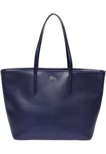 Bolsa Retangular Texturizada- Azul Marinho- 29,5X44,Lacoste