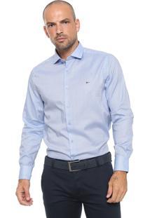 Camisa Aramis Reta Estampada Azul