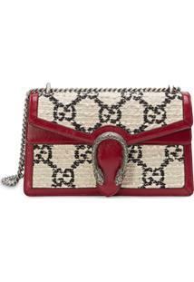 Gucci Bolsa Tiracolo De Tweed 'Dionysus' Pequena - Branco