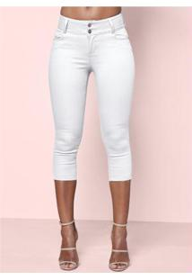 Calça Jeans Capri Branca