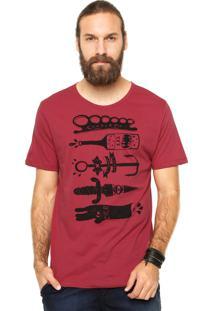 Camiseta Manga Curta Cavalera Soco Inglês Vinho