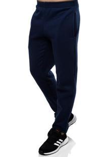 Calça Moletom Masculina Azul Marinho