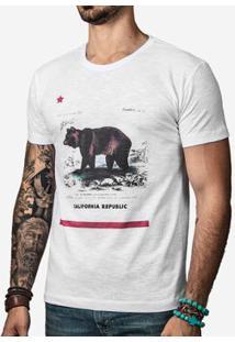 Camiseta Hermoso Compadre California Masculina - Masculino-Off White