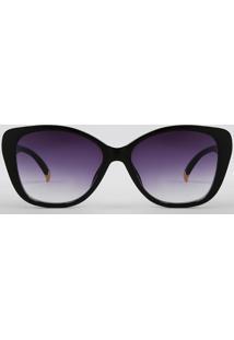 Óculos De Sol Quadrado Feminino Oneself Preto - Único