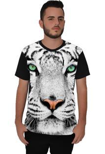 Camiseta Ramavi 01-Onça Manga Curta Preto