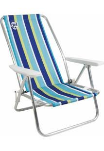 Cadeira De Praia Reclinável Island Listrada - Unissex
