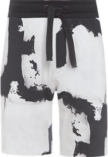 Bermuda Masculina Moletom Frost Collection - Branco