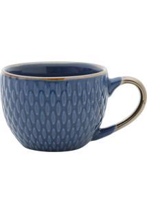 Jogo De Xícaras 6Pçs Porcelana Para Café Azul 90Ml Bon Gourmet