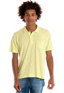 Camisa Polo Konciny Manga Curta Amarelo