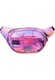 Pochete Shoulder Bag Jansport Fifth Avenue 2,5 Litros - Unissex-Roxo+Rosa