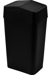 Lixeira Com Tampa Basculante Astra Ltb1 Pr-Pr 8 Litros Preta