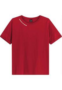 Blusa Vermelha Stronger Then Before