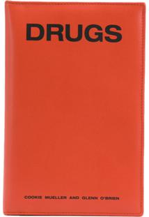 Raf Simons Carteira 'Drugs' De Couro - Laranja