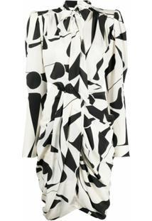 Isabel Marant Vestido Com Laço Na Gola - Neutro