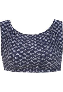 Track & Field Top Cropped 'Conchas' - Azul