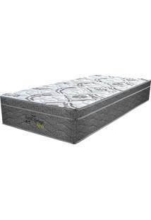 Colchão Solteiro Pillow Top Prodormir Springs Gray - Probel - Branco / Grafite / Prata