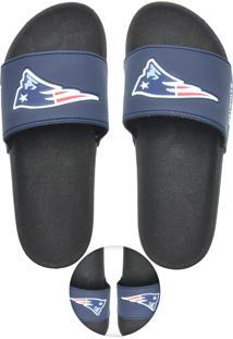 Chinelo New England Patriots Nfl Preto/Azul