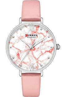 Relógio Curren Analógico C9045L Rosa E Prata