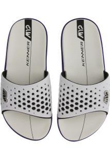Chinelo Kenner M12 - Slide - Masculino - Branco/Roxo